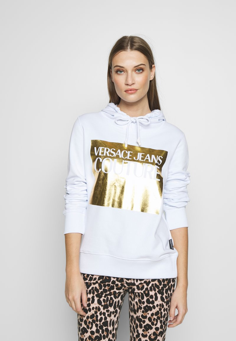 Versace Jeans Couture - LADY LIGHT SWEATER - Mikina skapucí - white