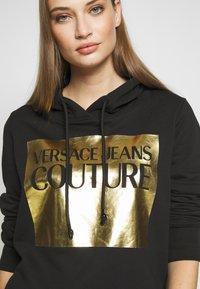 Versace Jeans Couture - LADY LIGHT SWEATER - Felpa con cappuccio - black - 4