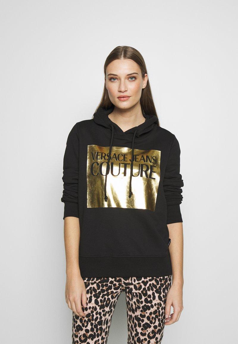 Versace Jeans Couture - LADY LIGHT SWEATER - Felpa con cappuccio - black