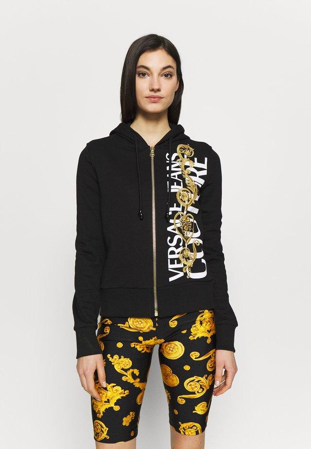 Zip-up hoodie - black/gold