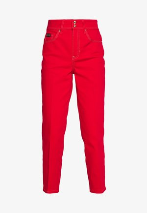 LADY TROUSER - Džíny Straight Fit - racing red
