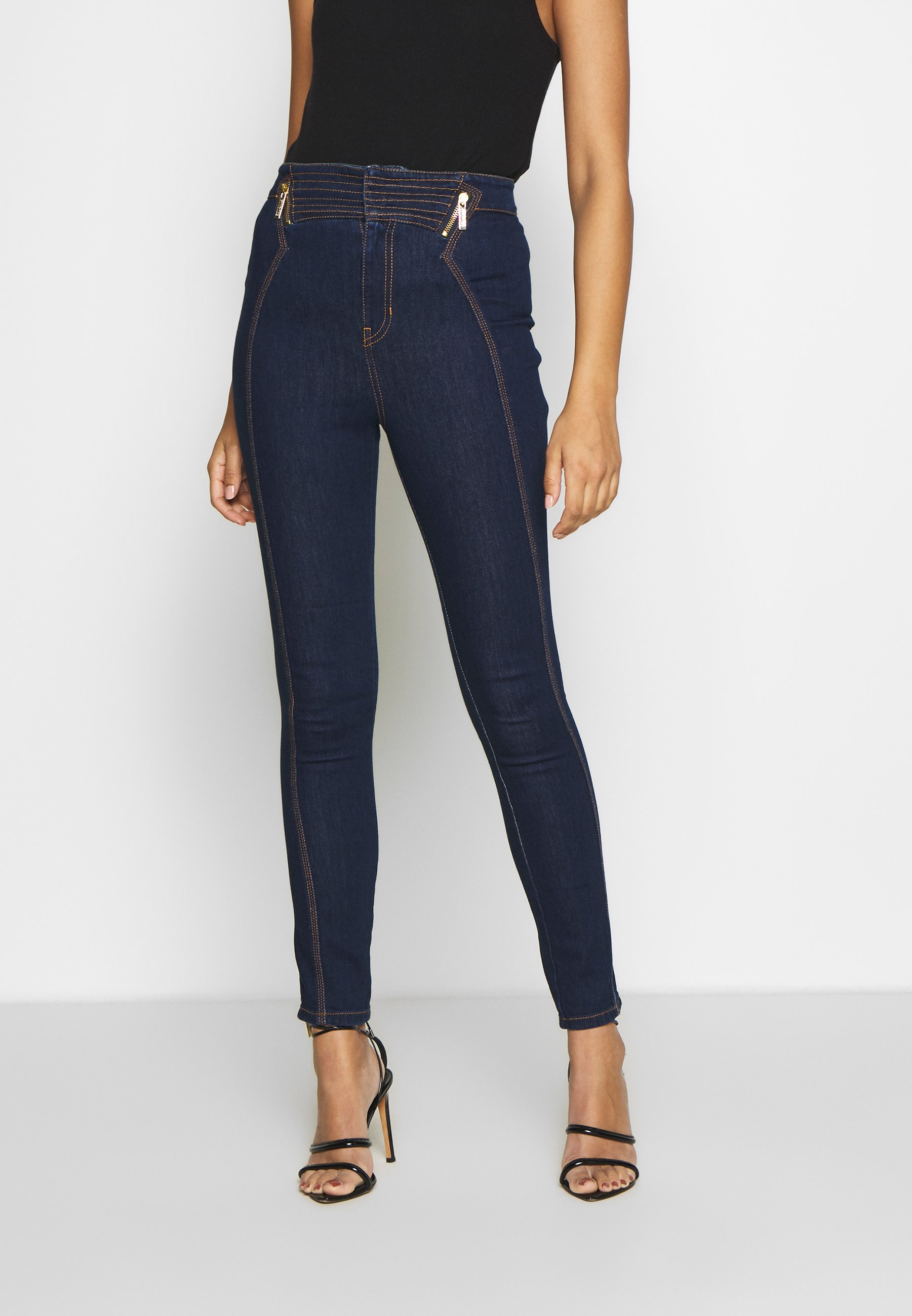 Versace Jeans Couture LADY TROUSER - Jeansy Skinny Fit - indigo