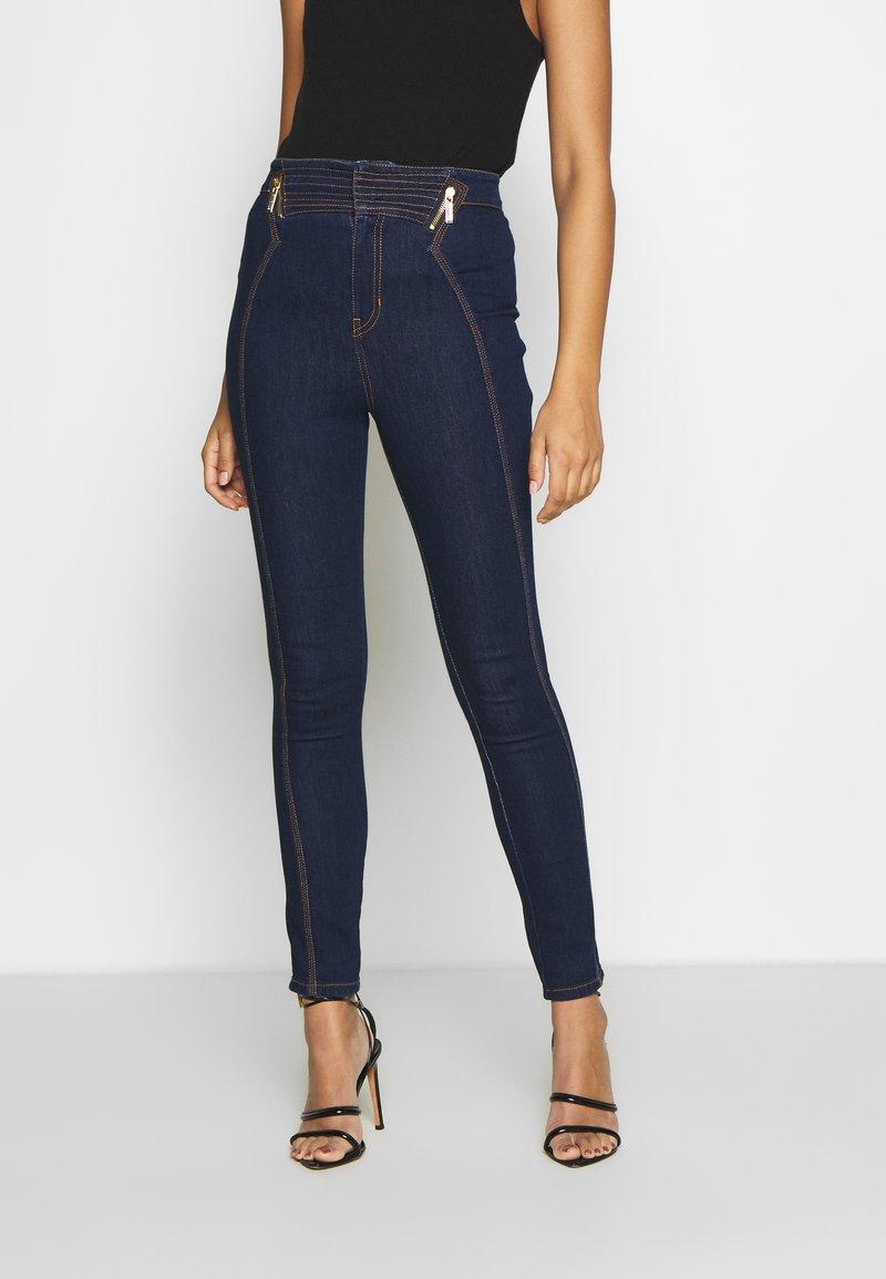Versace Jeans Couture - LADY TROUSER - Skinny-Farkut - indigo