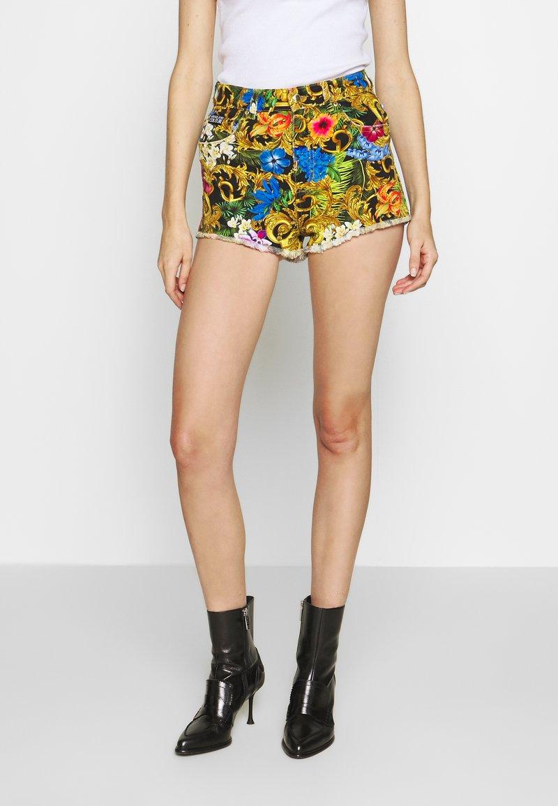 Versace Jeans Couture - Denim shorts - multi-coloured/black