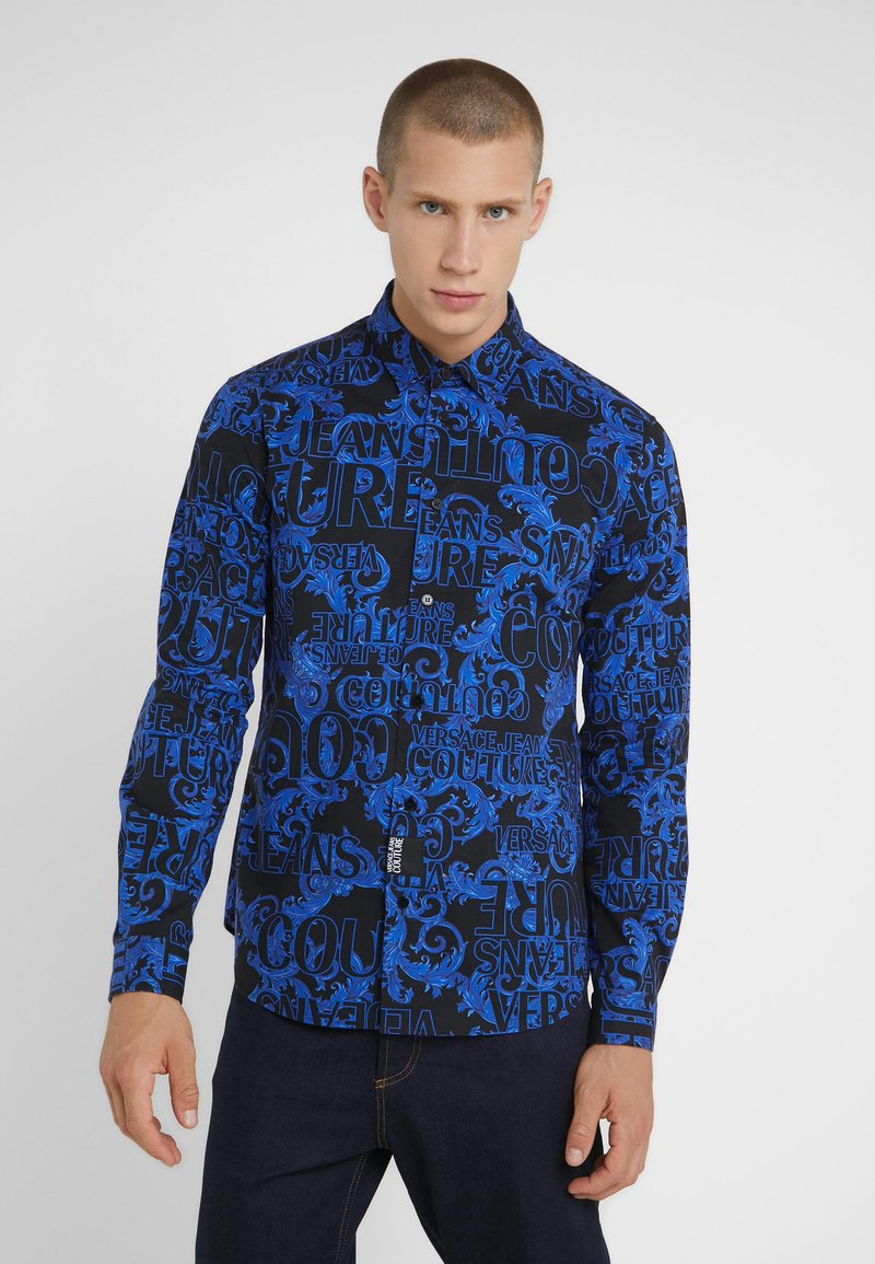 Versace Jeans Couture - BAROQUE - Hemd - black/blue