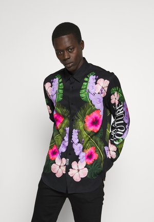 FLORAL PRINT SHIRT - Overhemd - black
