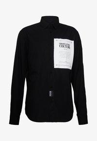 Versace Jeans Couture - LABEL LOGO  - Camicia - black - 4