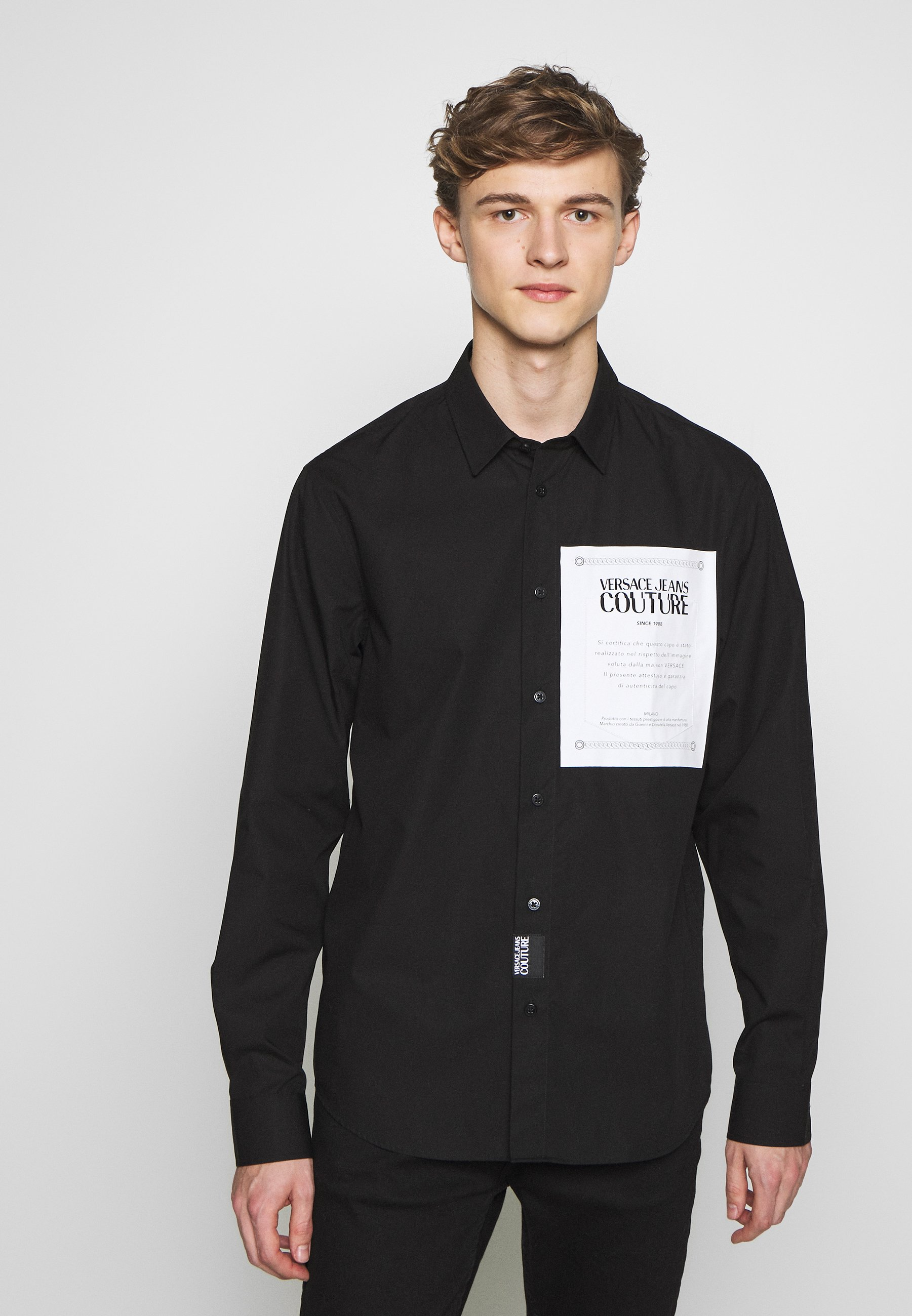 Versace Jeans Couture LABEL LOGO - Koszula - black