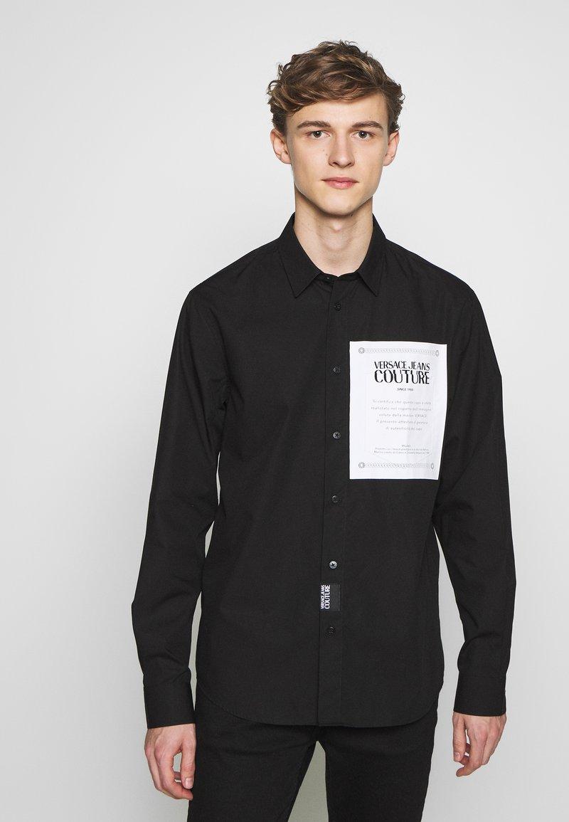 Versace Jeans Couture - LABEL LOGO  - Camicia - black