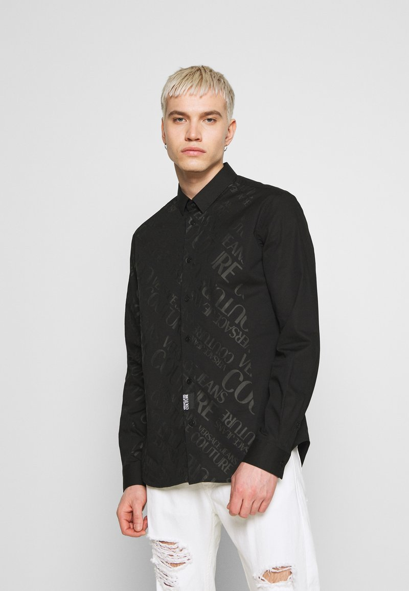 Versace Jeans Couture - TONAL LOGO PRINT - Camicia - black