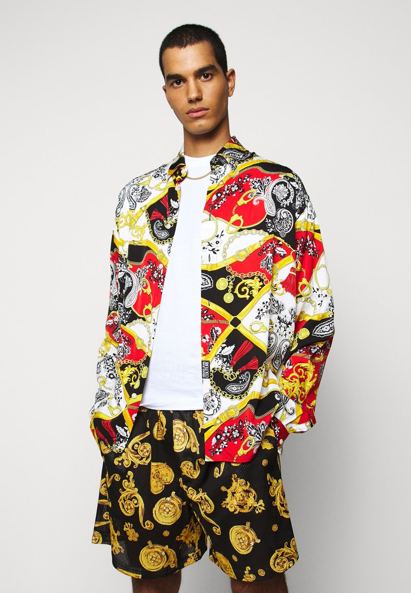 Versace Jeans Couture - PRINT BELT PAISLEY - Overhemd - rosso