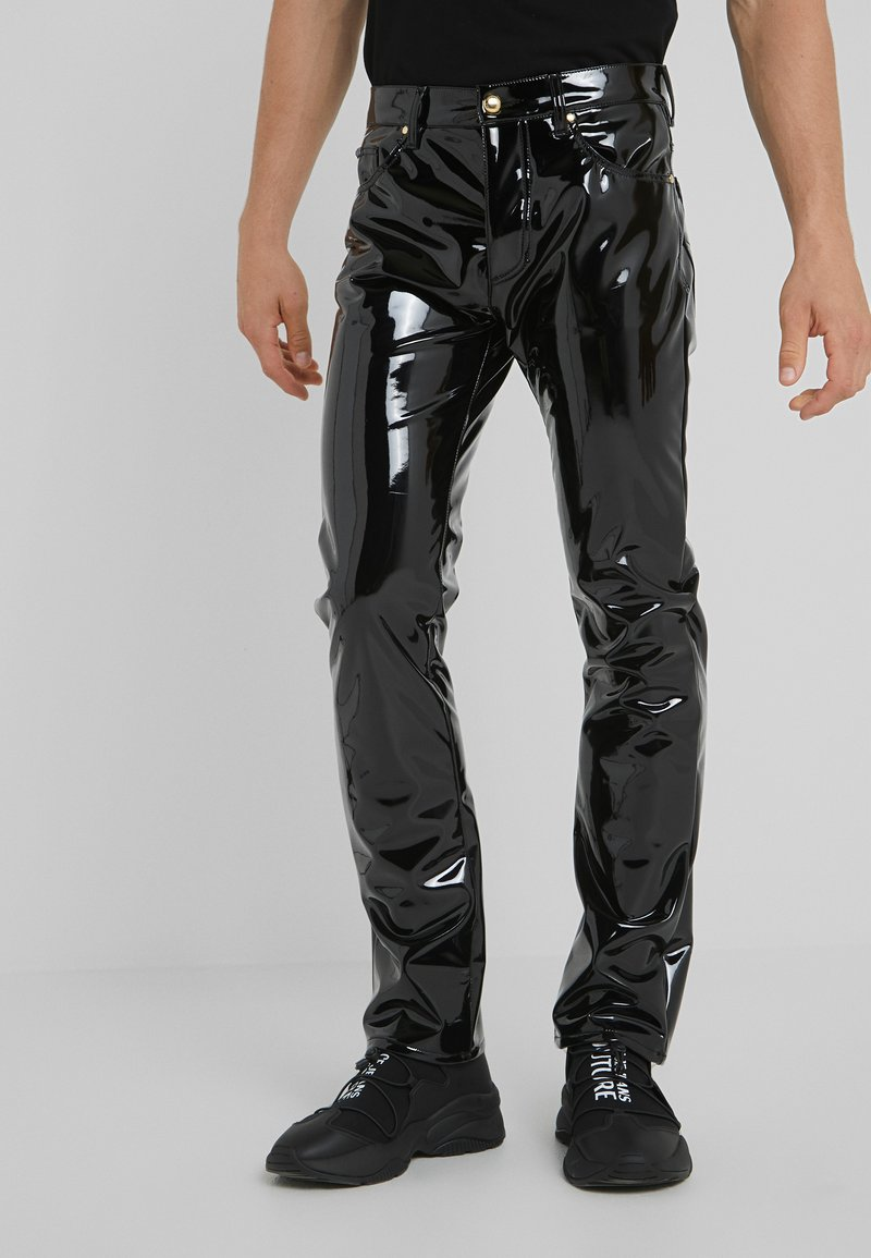 Versace Jeans Couture - GLOSSY TROUSERS - Bukse - black