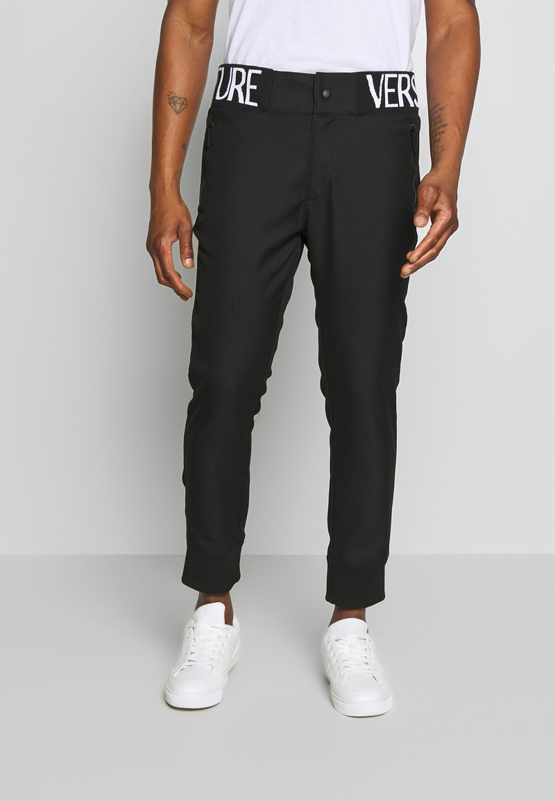Versace Jeans Couture - BAND LOGO TAILORED - Pantaloni - black