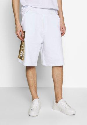 LOGO - Teplákové kalhoty - white/gold