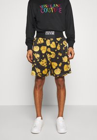 Versace Jeans Couture - FRONT LOGO GIOIELLI PRINT - Shorts - black - 0