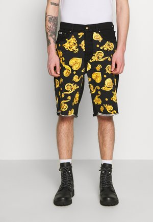 CUTOUT - Shorts di jeans - black
