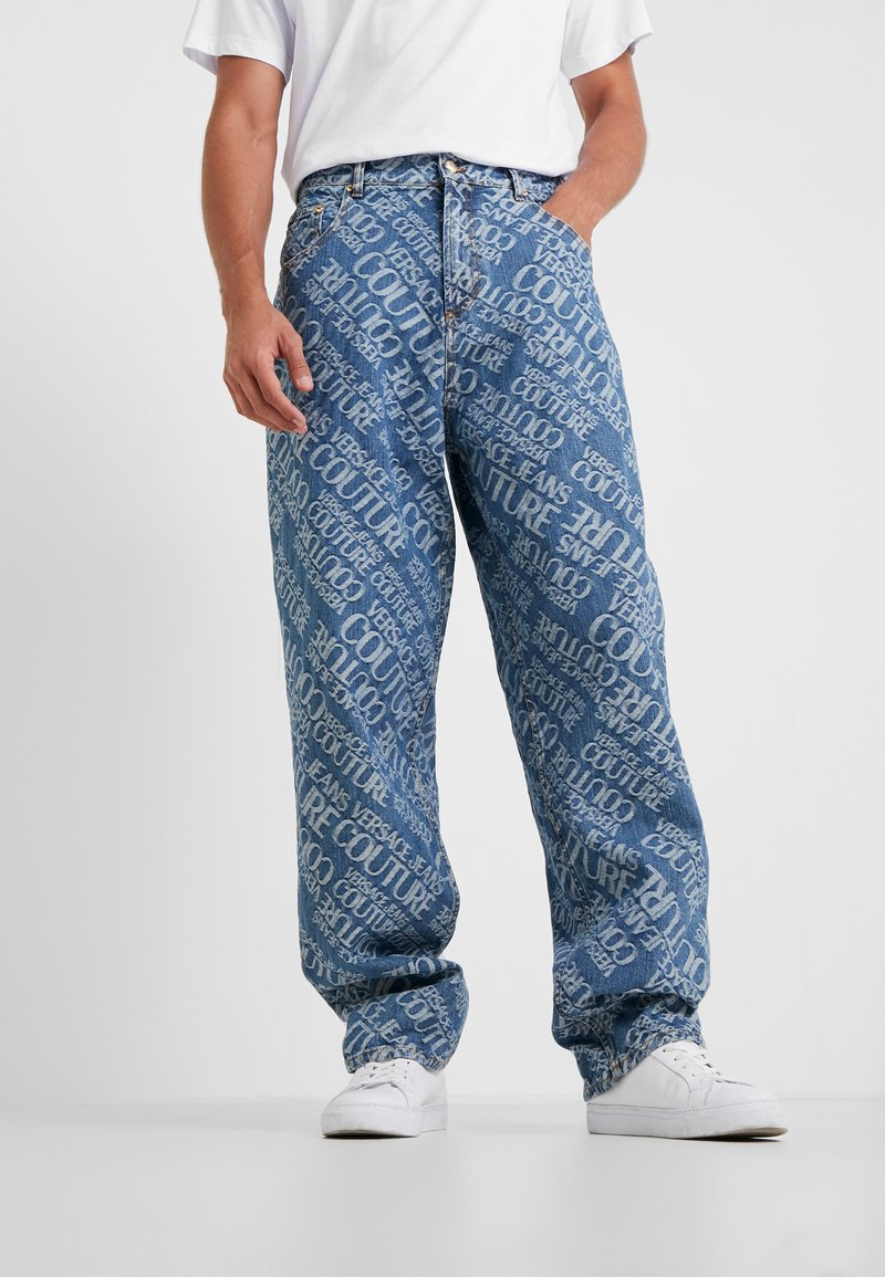 Versace Jeans Couture - ALLOVER PRINT  - Jeans relaxed fit - blue denim