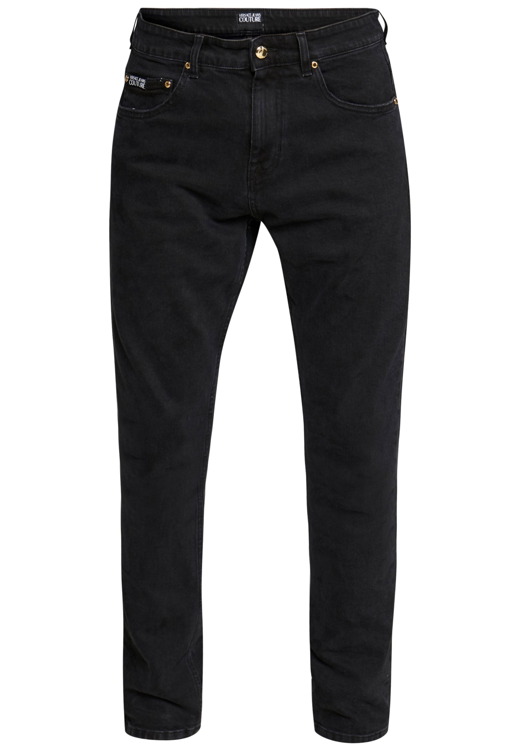 Versace Jeans Couture Milano Jungle Back Pocket - Slim Fit Black