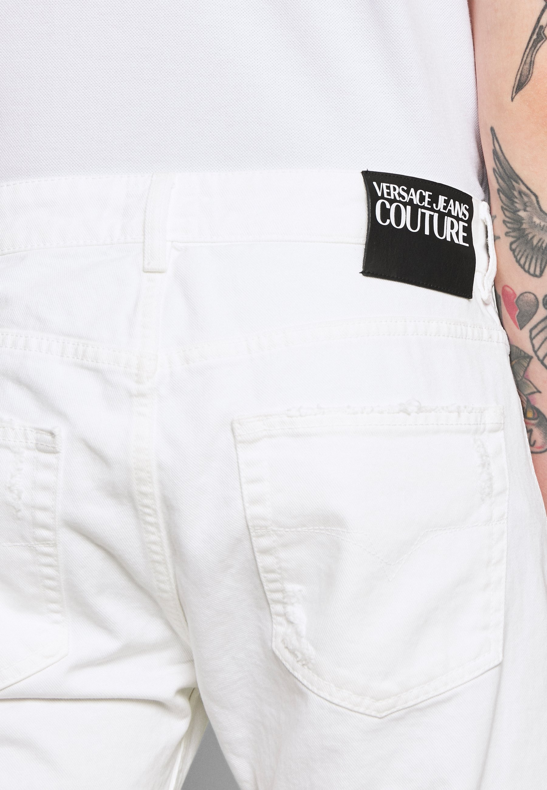 Versace Jeans Couture Milano Destroyed - Slim Fit White