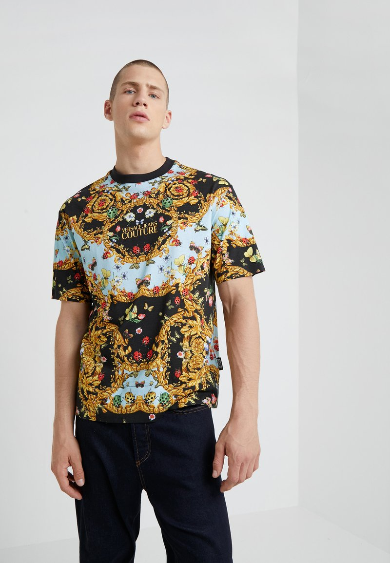 Versace Jeans Couture - MAGLIETTE UOMO - T-shirt med print - nero