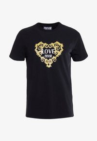Versace Jeans Couture - LOVE - T-shirts med print - black - 4