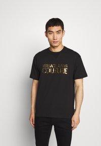 Versace Jeans Couture - LOGO - T-Shirt print - black - 0
