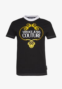 Versace Jeans Couture - LOGO SLIM - T-shirt con stampa - black - 3