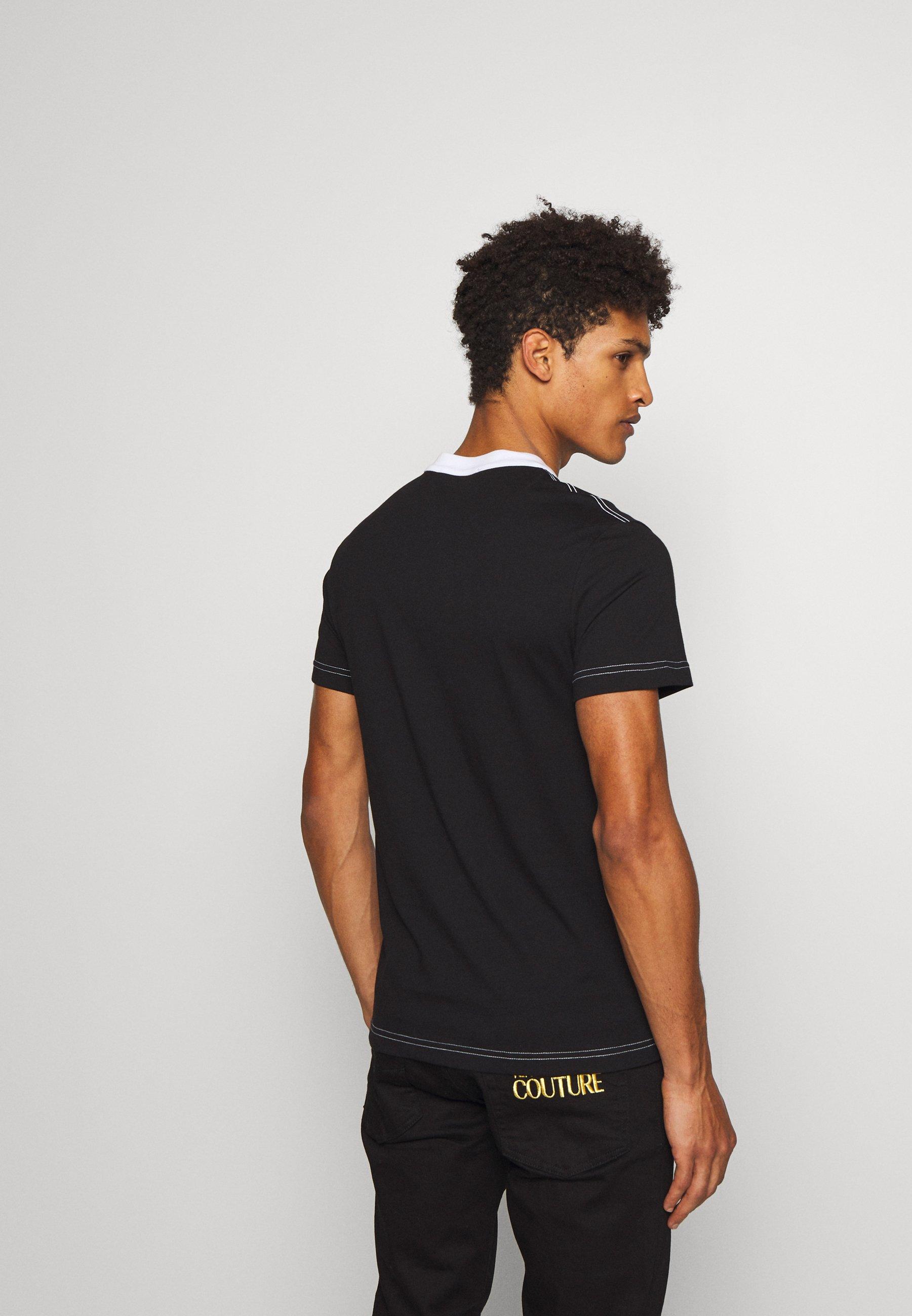 Versace Jeans Couture LOGO SLIM - T-shirt z nadrukiem - black