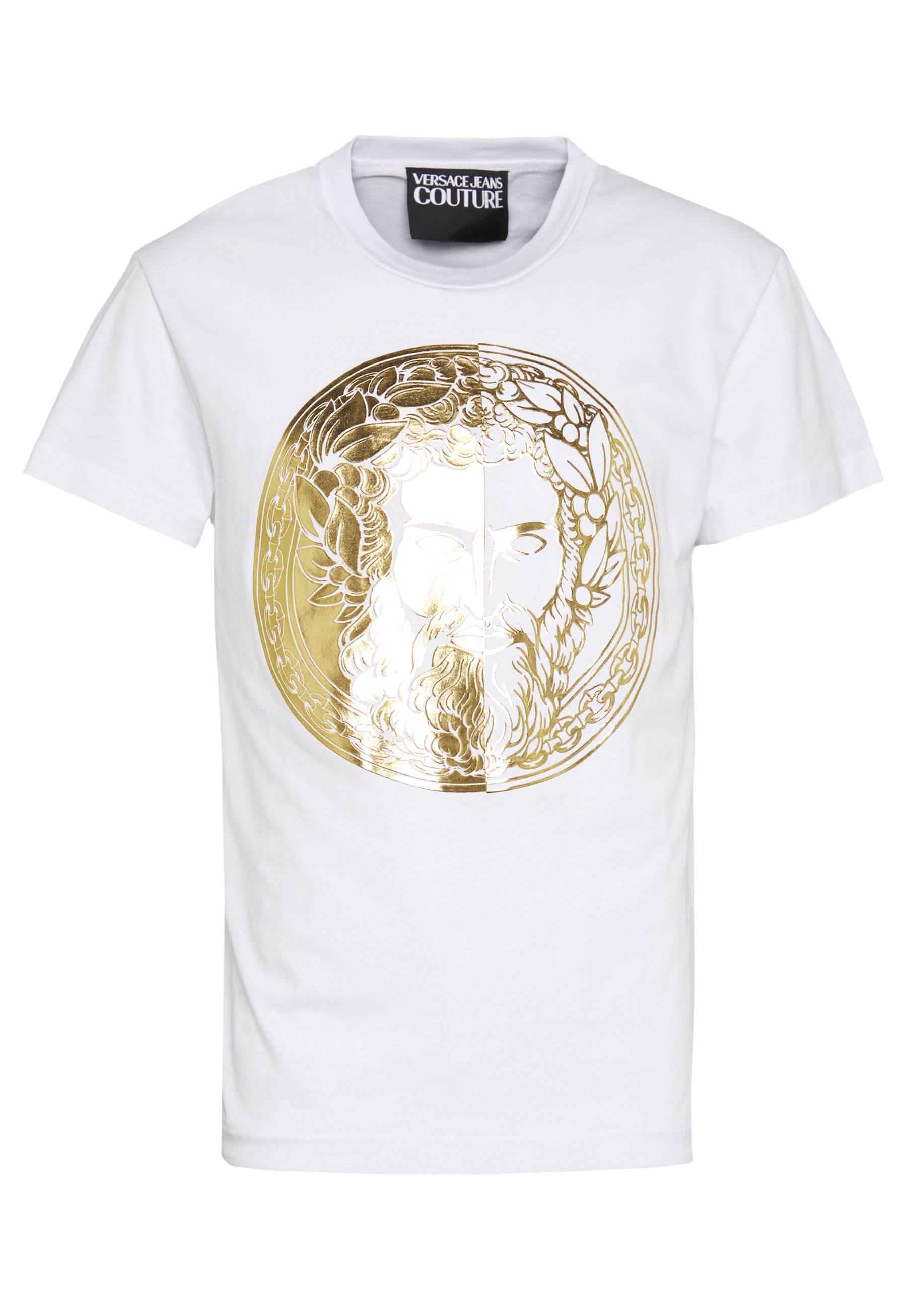 Versace Jeans Couture WITHOUT THE BE BAROQUE PATCH - T-shirt con stampa - white