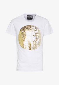 Versace Jeans Couture - WITHOUT THE BE BAROQUE PATCH - T-shirt imprimé - white - 4