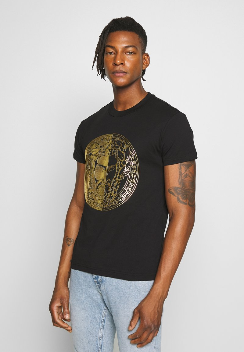 Versace Jeans Couture - WITHOUT THE BE BAROQUE PATCH - T-shirt print - black