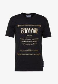 Versace Jeans Couture - LOGO SLIM - Print T-shirt - black - 4