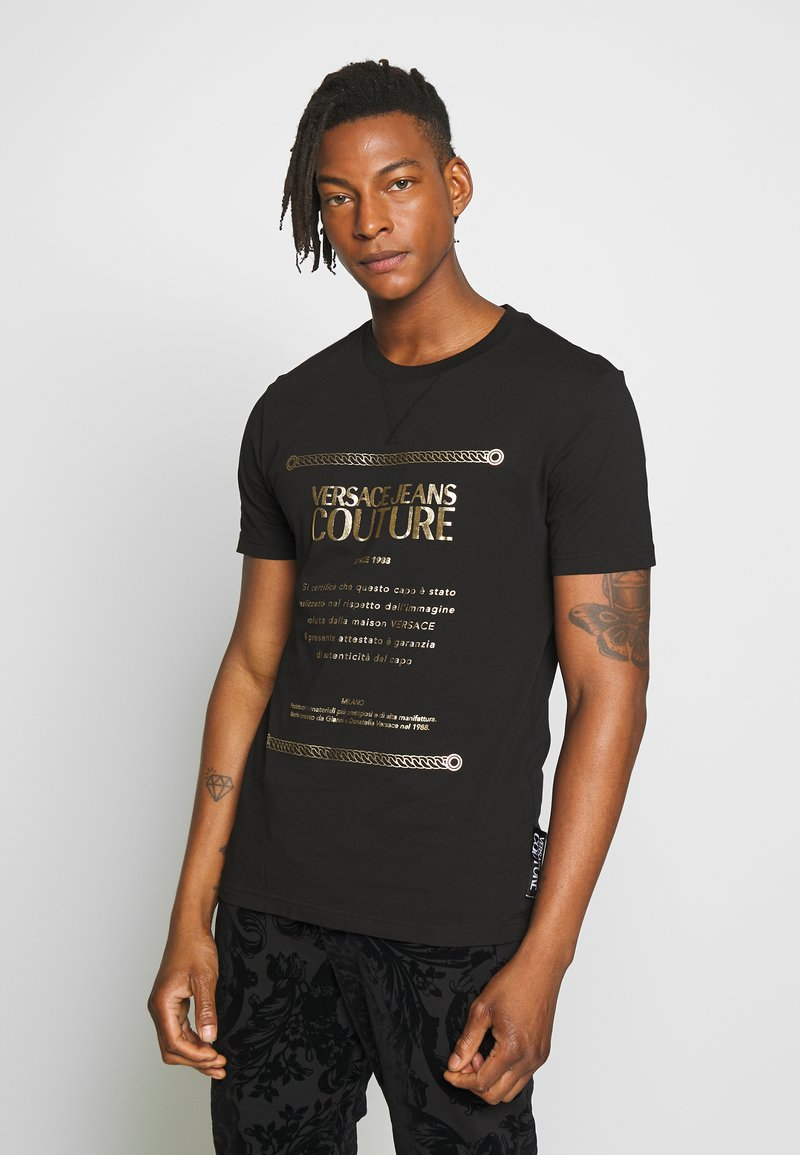 Versace Jeans Couture - LOGO SLIM - T-shirt con stampa - black