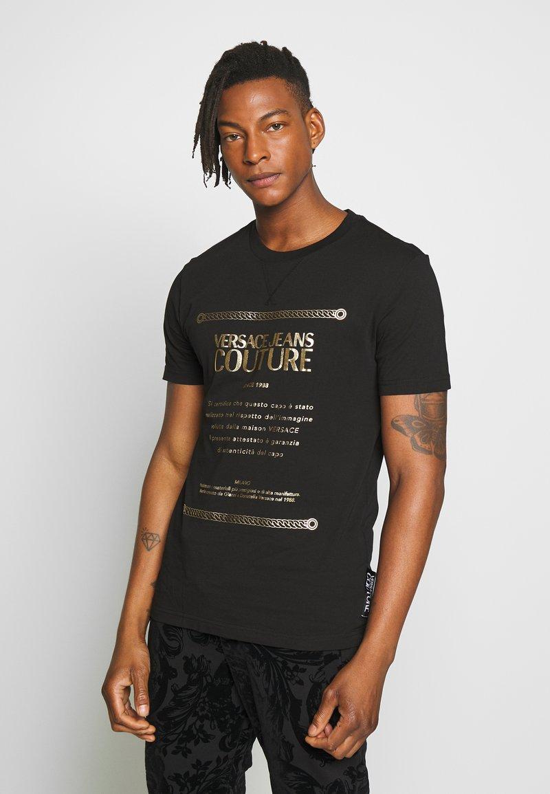 Versace Jeans Couture - LOGO SLIM - Triko spotiskem - black