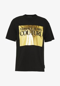 Versace Jeans Couture - FOIL LOGO WITHOUT THE 'BE BAROQUE' PATCH REGULAR FIT - T-shirt print - black - 4