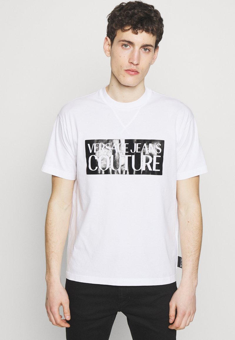 Versace Jeans Couture - BASIC LOGO REGULAR FIT - T-shirt print - white / black