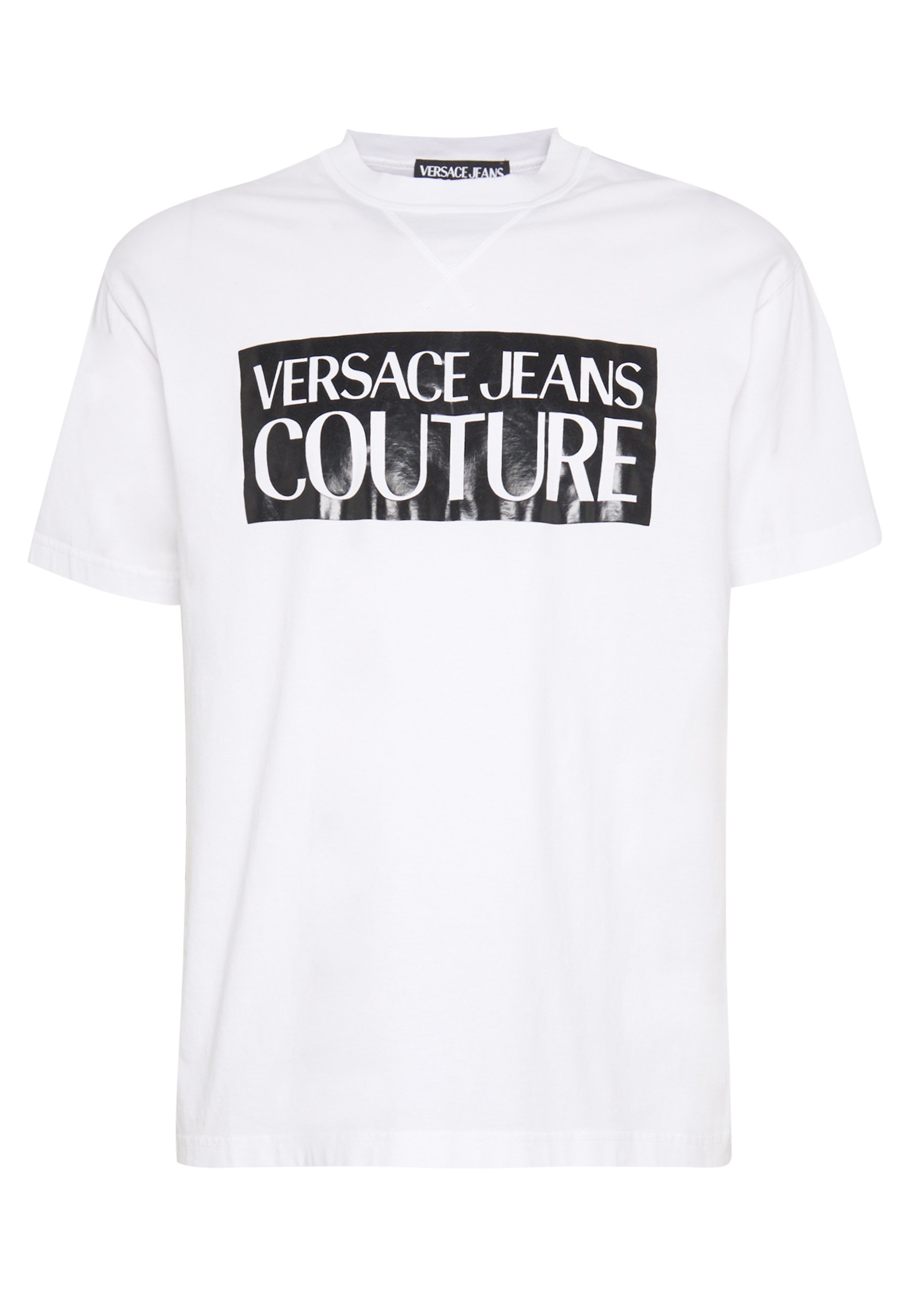 Versace Jeans Couture Basic Logo Regular Fit - T-shirt Med Print White / Black