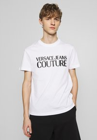 Versace Jeans Couture - BASIC LOGO - T-Shirt print - white - 0