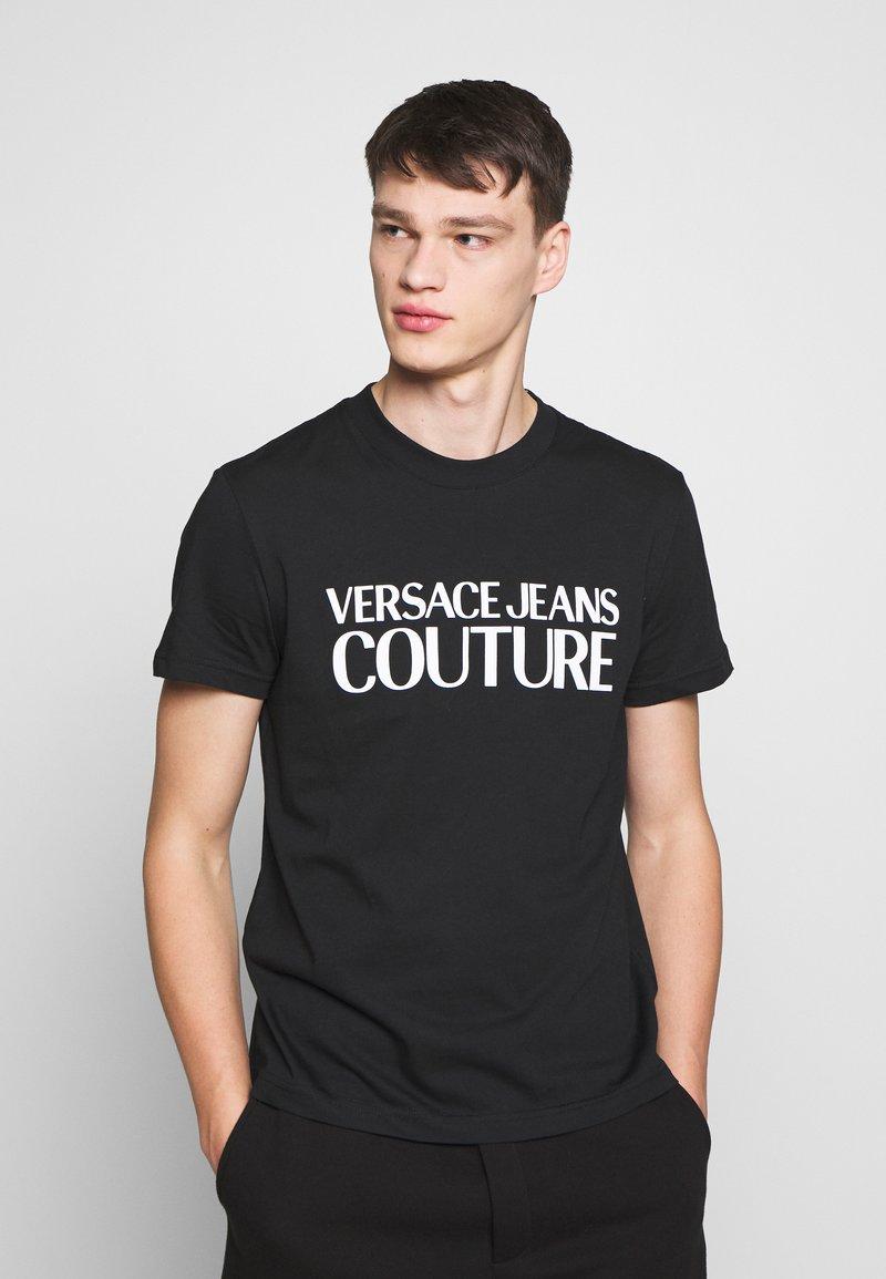 Versace Jeans Couture - BASIC LOGO - Triko spotiskem - black