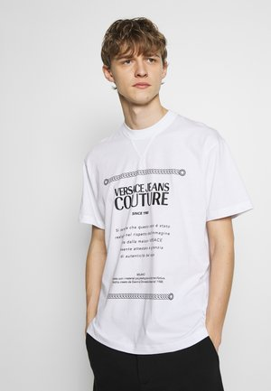 LABEL LOGO FIT - T-Shirt print - white