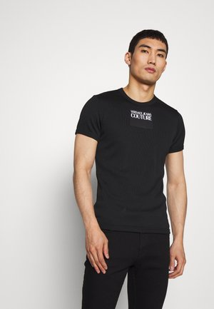 SKINNY - T-shirt con stampa - black