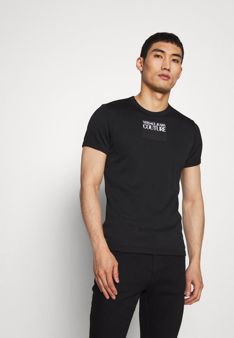Versace Jeans Couture - SKINNY - T-shirt print - black