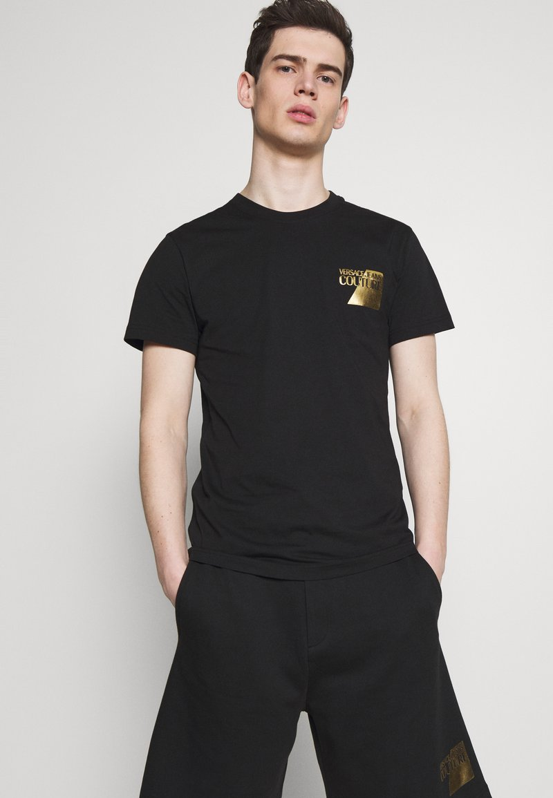 Versace Jeans Couture - SMALL FOIL LOGO - T-shirts print - black