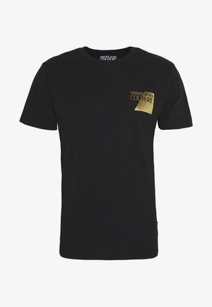 SMALL FOIL LOGO - Print T-shirt - black