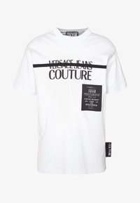 Versace Jeans Couture - LOGO TAPE - T-shirt print - white - 4