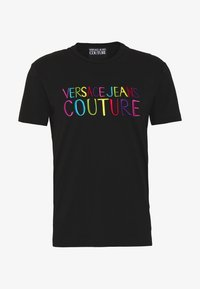 Versace Jeans Couture - COLOUR EMROIDERED LOGO - T-Shirt print - black - 3