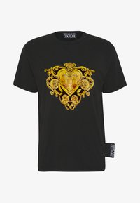 Versace Jeans Couture - T-shirt con stampa - black/gold - 3