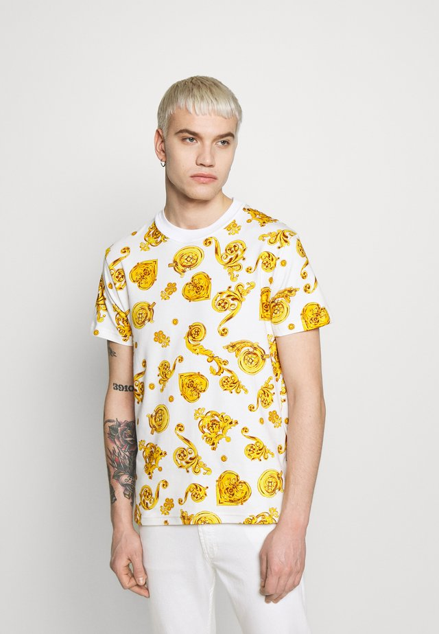 ALLOVER PRINT GIOIELLI - T-shirts print - white/gold