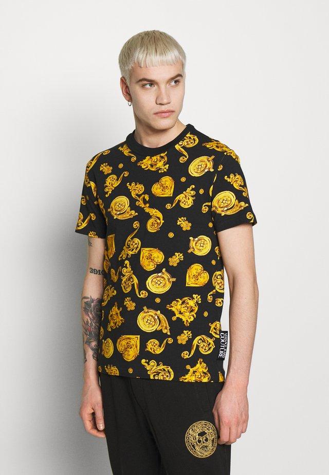 ALLOVER PRINT GIOIELLI - Print T-shirt - black