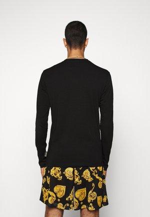 LOGO - Maglietta a manica lunga - black/gold